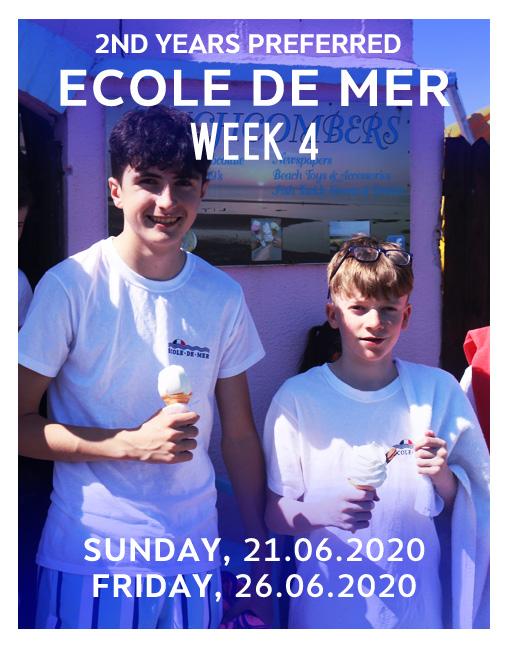 Ecole de mer 2020 course week 4