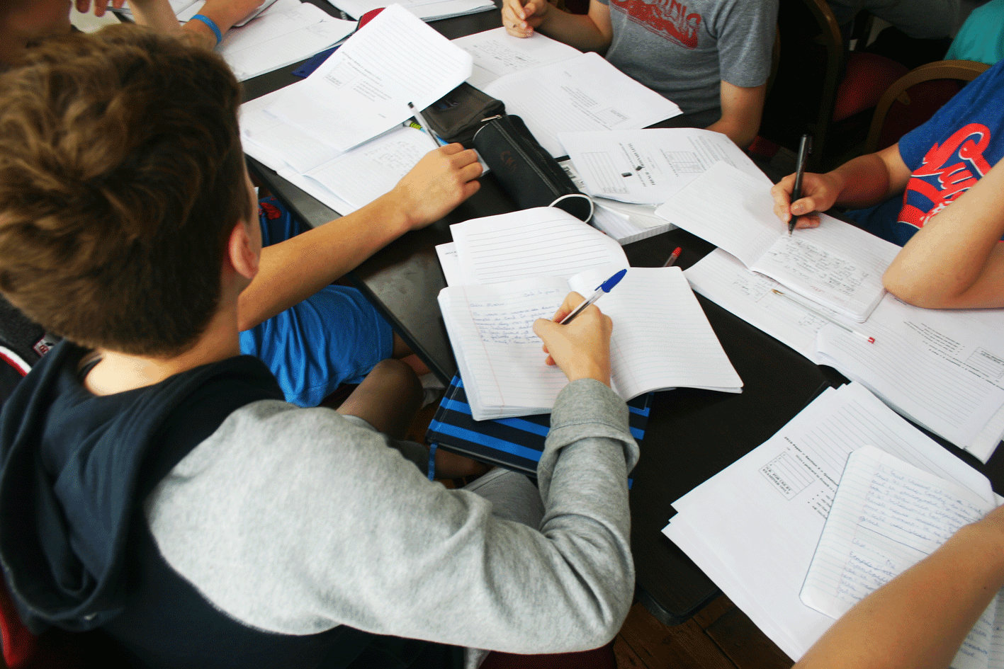 Ecole de mer student french class