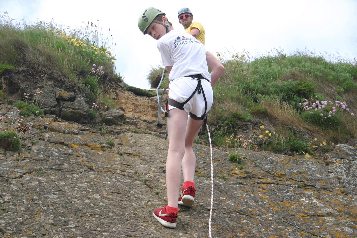 Rock Climbing & Abseiling 2016 Ardmore ireland ecole de mer students 2016 summer