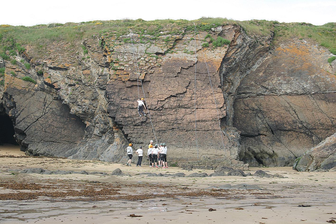 Rock Climbing & Abseiling 2016 Ardmore ireland ecole de mer students