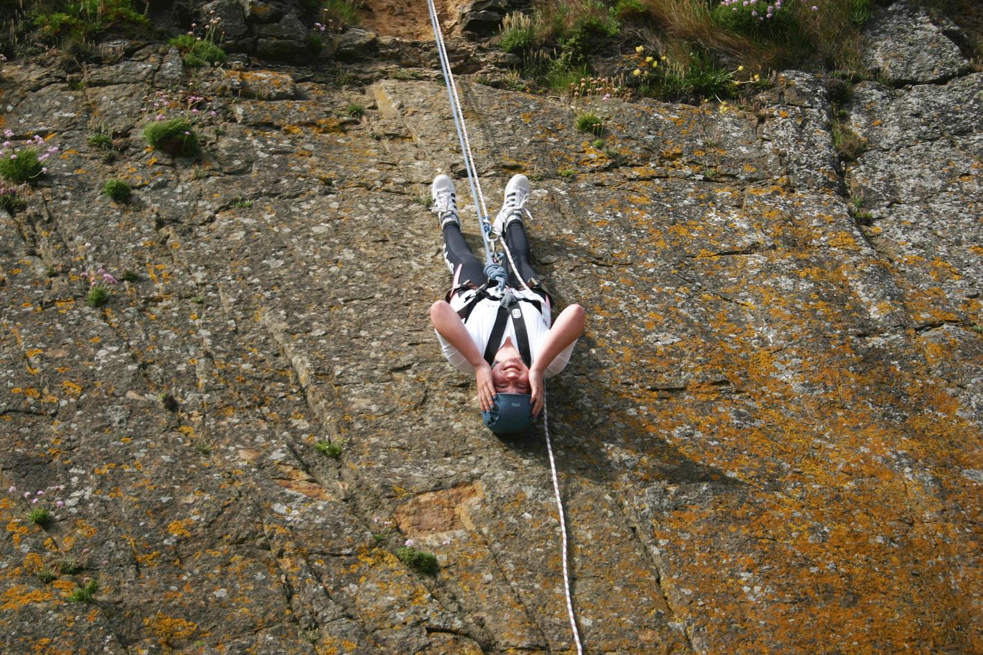 Rock Climbing & Abseiling 2016 Ardmore ireland ecole de mer