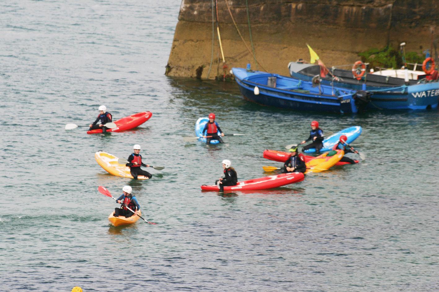 Ecole de mer kayaking activity ardmore