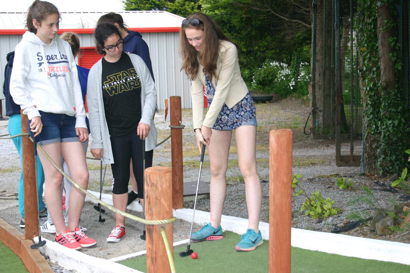 Ecole de mer mini golf minigolf