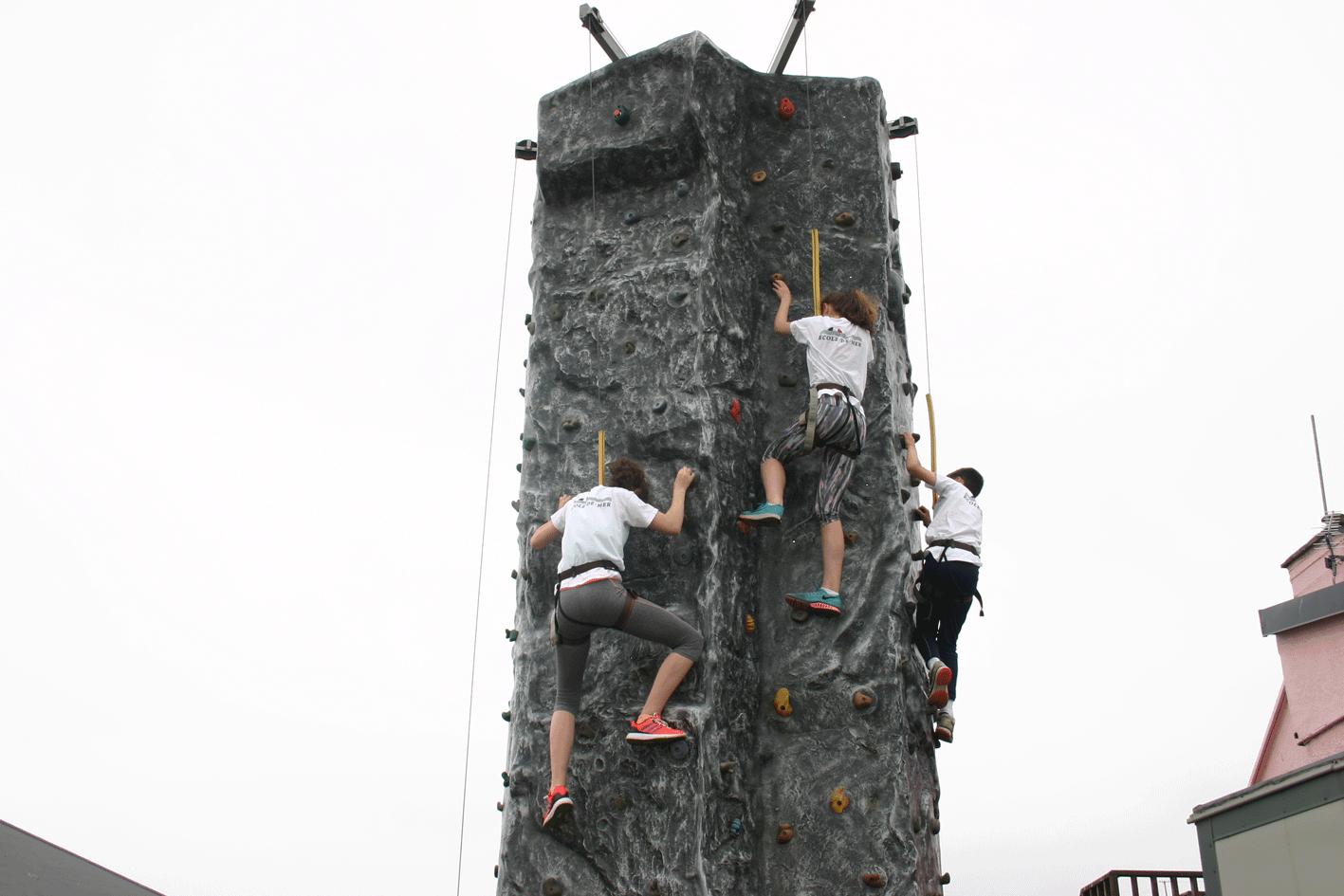 Rock Climbing & Abseiling 2016 ardmore ecole de mer