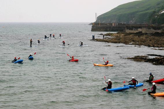 Ecole de Mer student kayaking